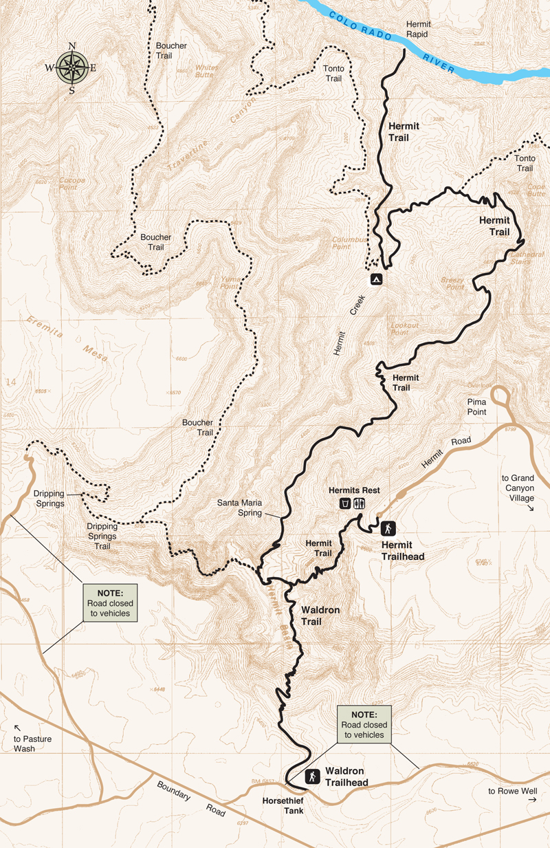 Hermit Trail | Grand Canyon Conservancy